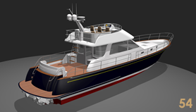 54' Custom Yacht Waterjet Flybridge